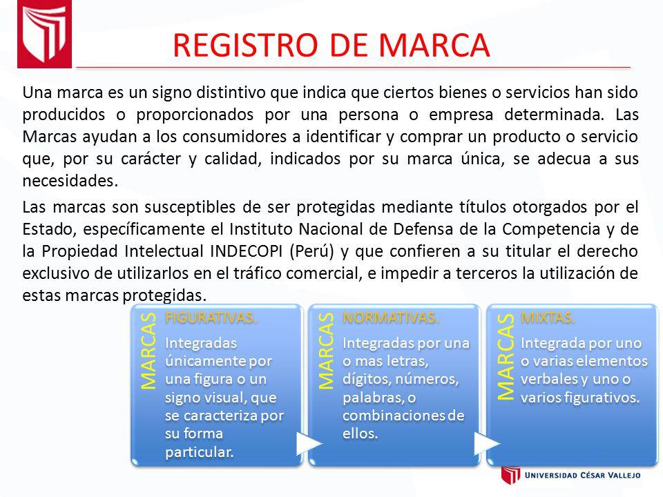 REGISTRO DE MARCA MARCAS