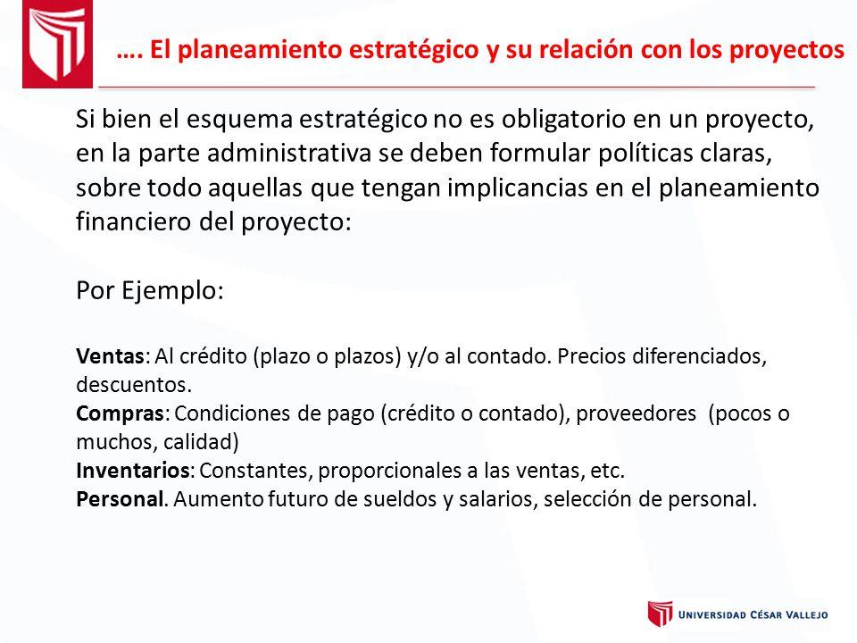 …. El planeamiento estratégico y su relación con los proyectos