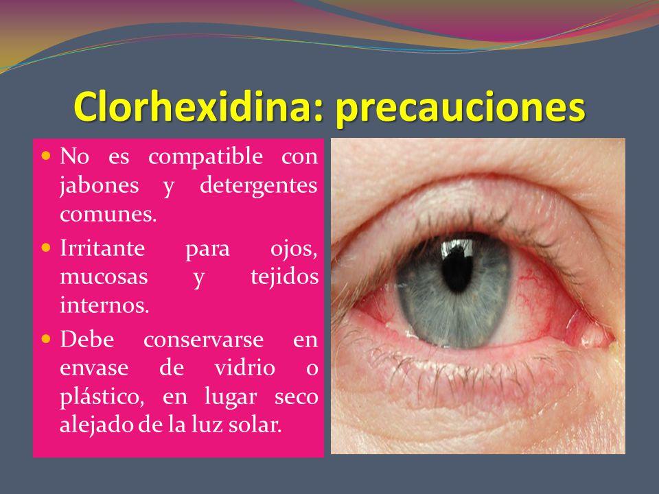 Clorhexidina: precauciones