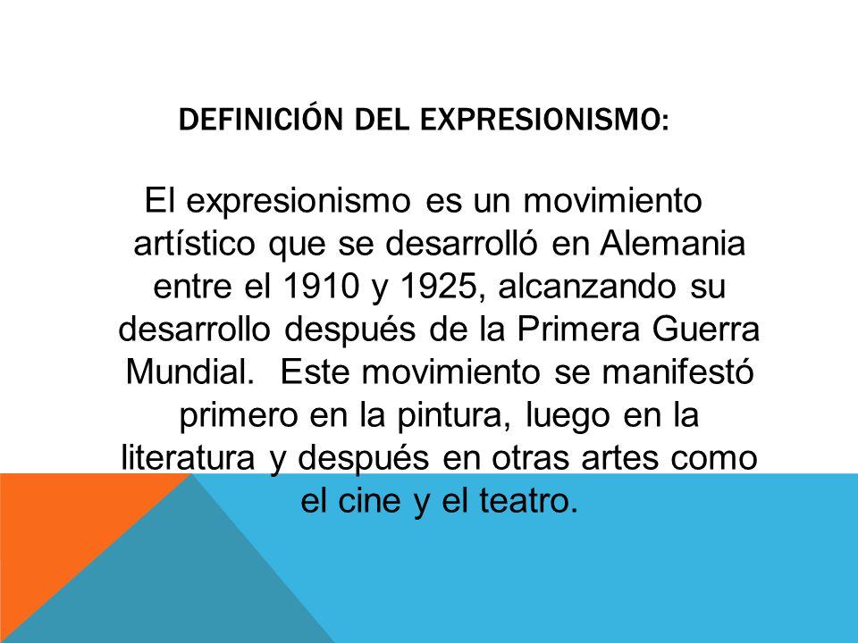 El arte en el siglo xx el expresionismo ppt video for Que es arquitectura definicion