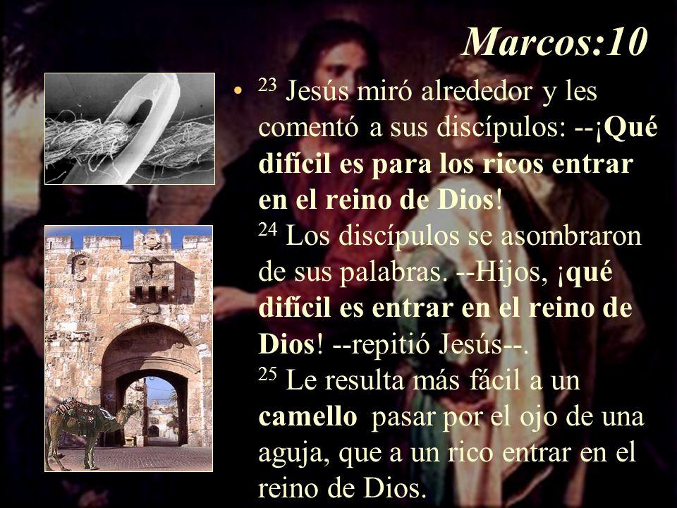 Marcos:10 17 Cuando Jesús estaba ya para irse, un hombre llegó ...