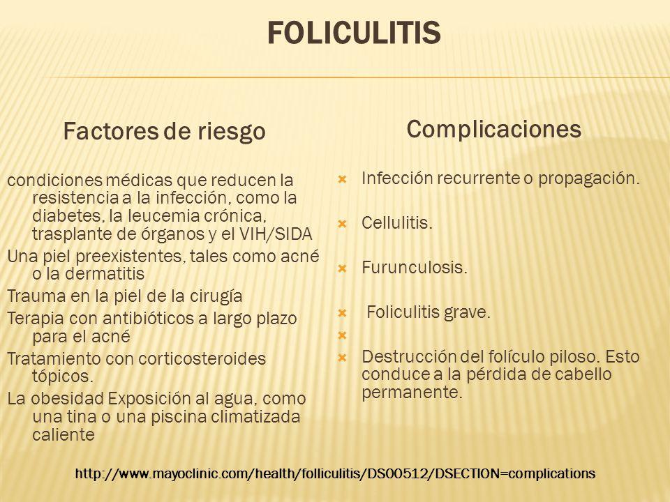 Factores de riesgo Complicaciones