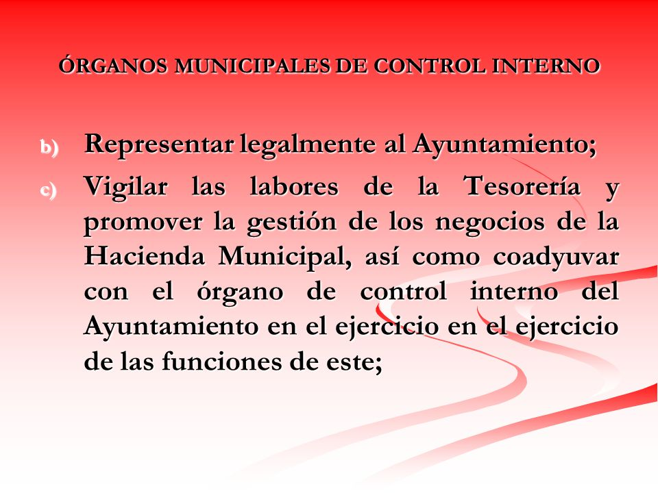 Control Interno Municipal Ppt Descargar