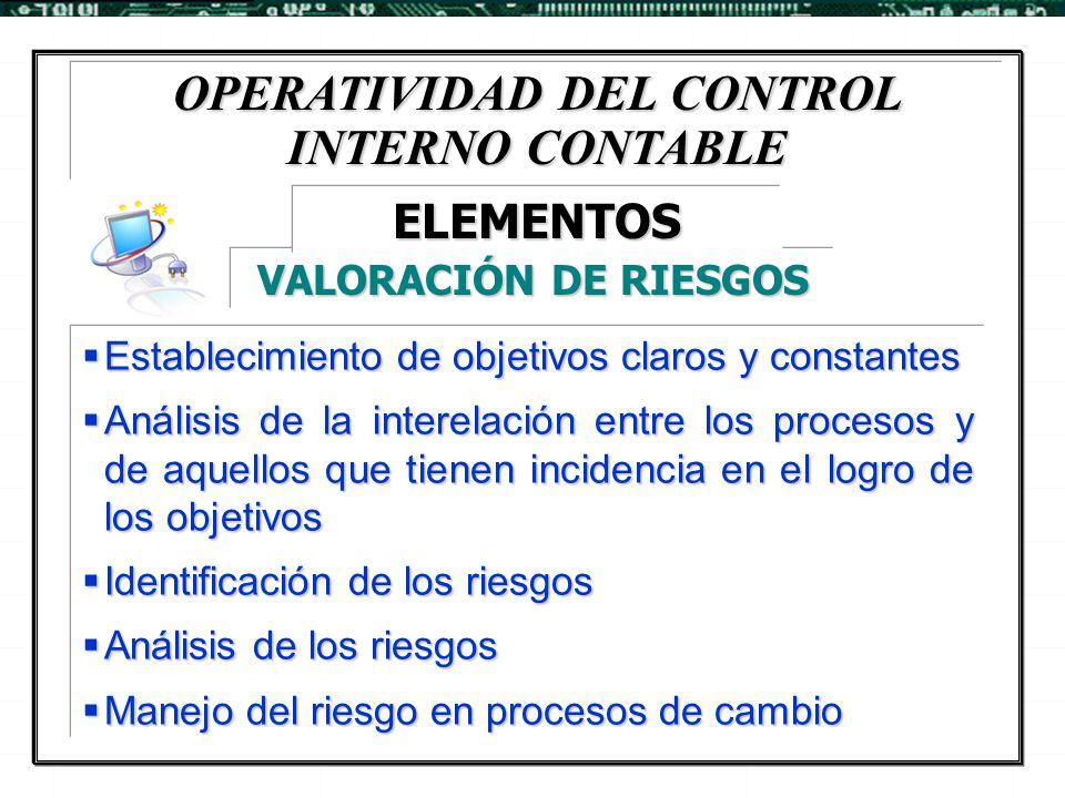 OPERATIVIDAD DEL CONTROL INTERNO CONTABLE