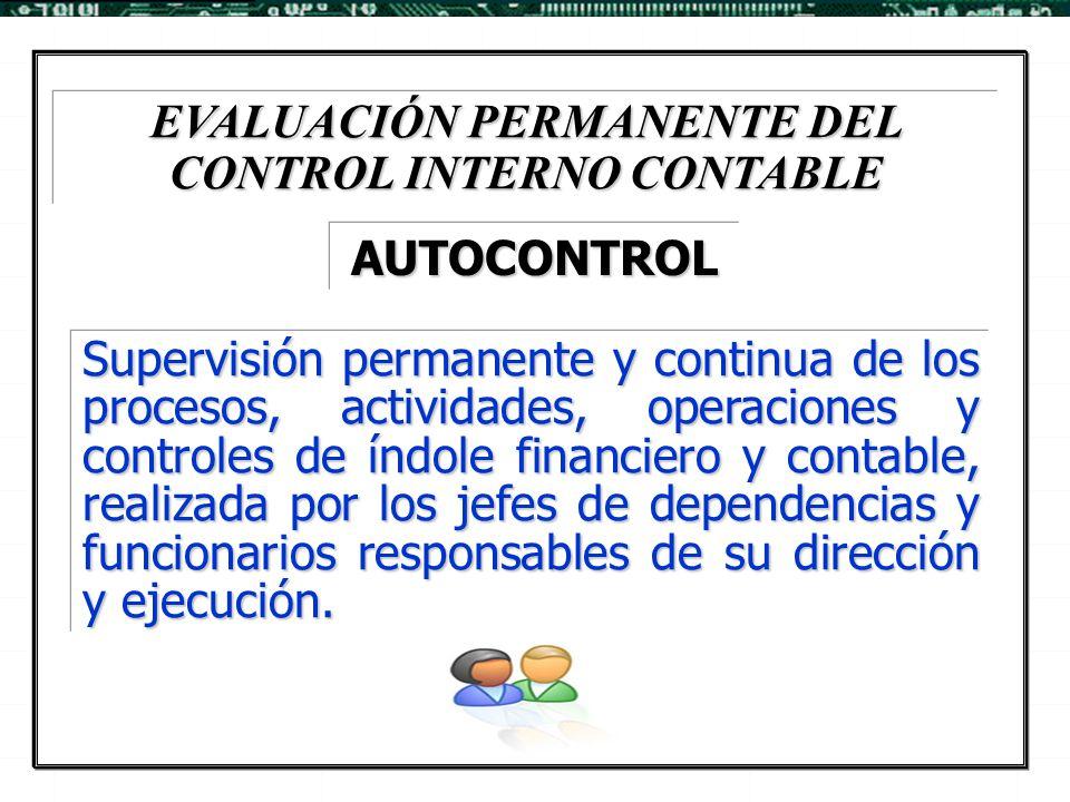 EVALUACIÓN PERMANENTE DEL CONTROL INTERNO CONTABLE