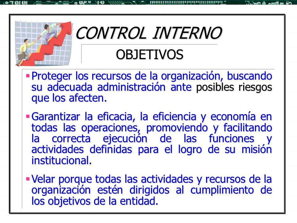 CONTROL INTERNO OBJETIVOS
