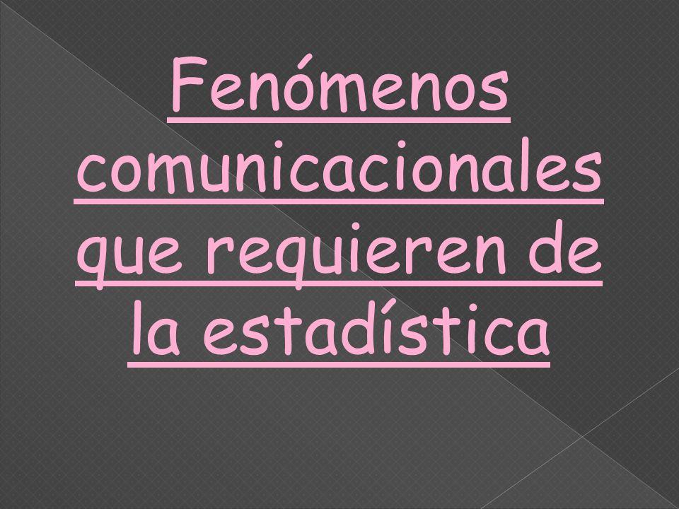 Fenómenos comunicacionales que requieren de la estadística