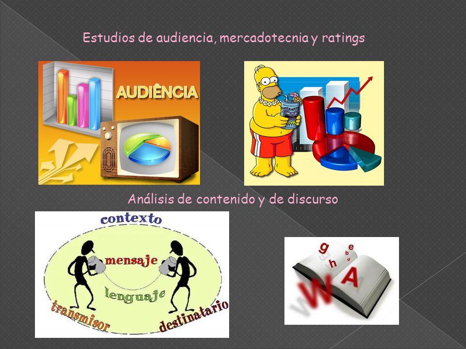 Estudios de audiencia, mercadotecnia y ratings