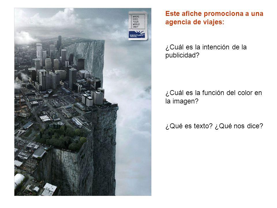 Este afiche promociona a una agencia de viajes: