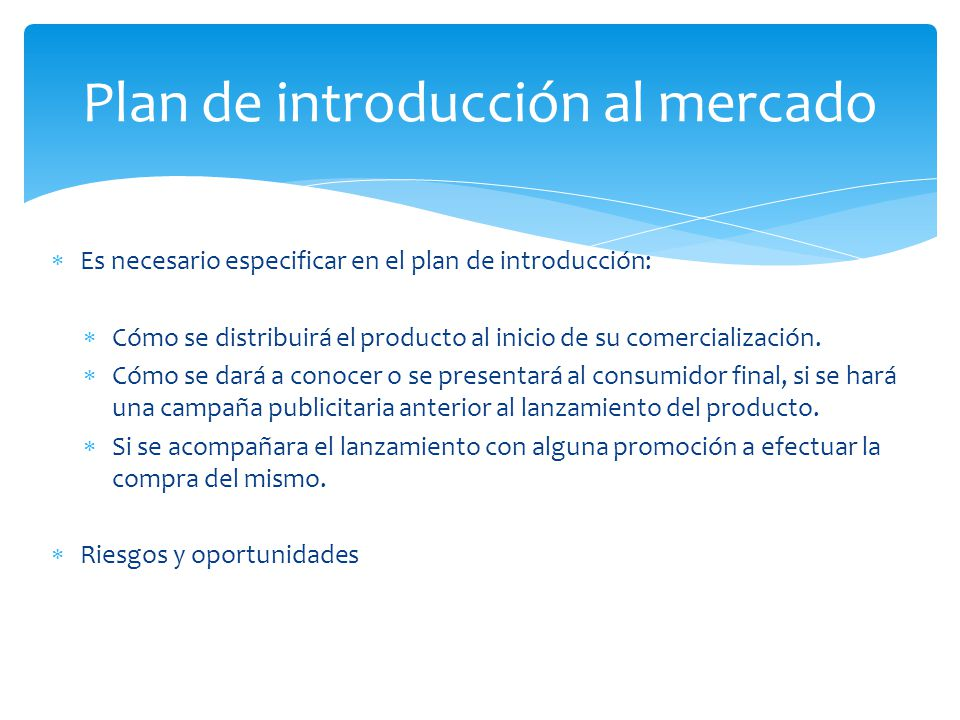 Plan de introducción al mercado