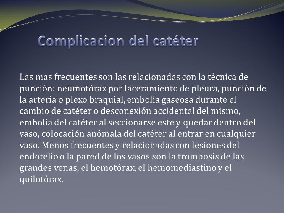 Complicacion del catéter