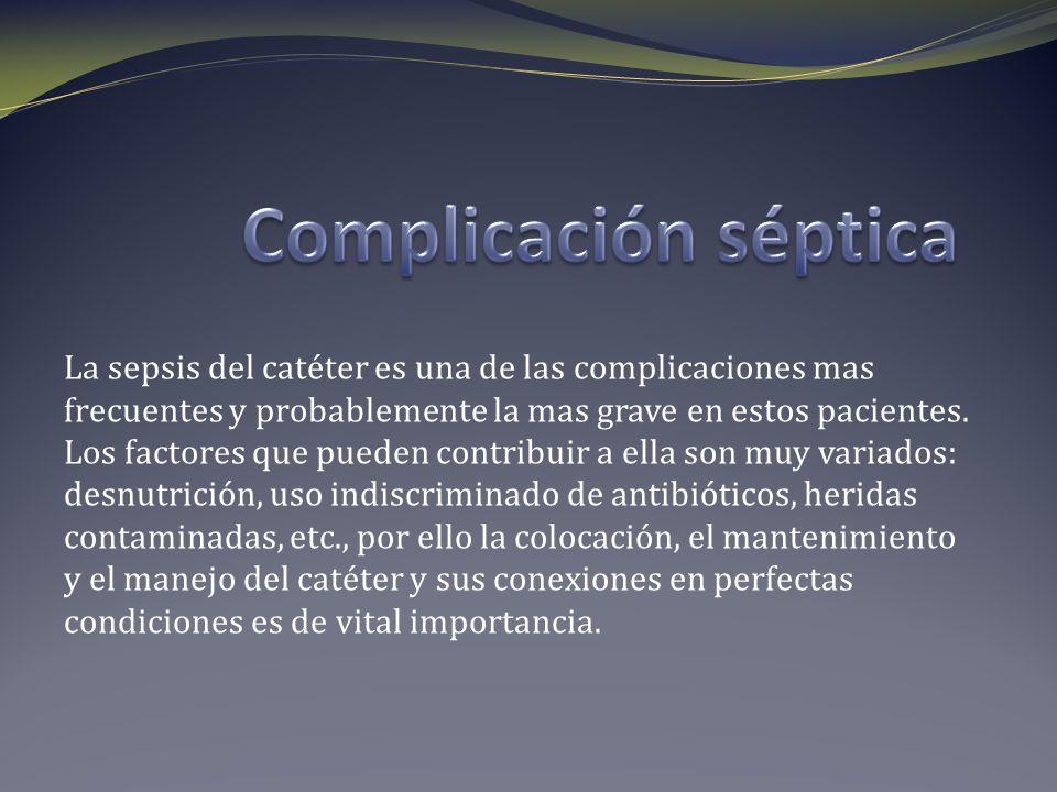 Complicación séptica