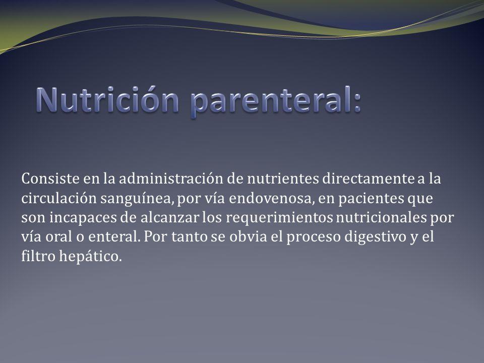 Nutrición parenteral: