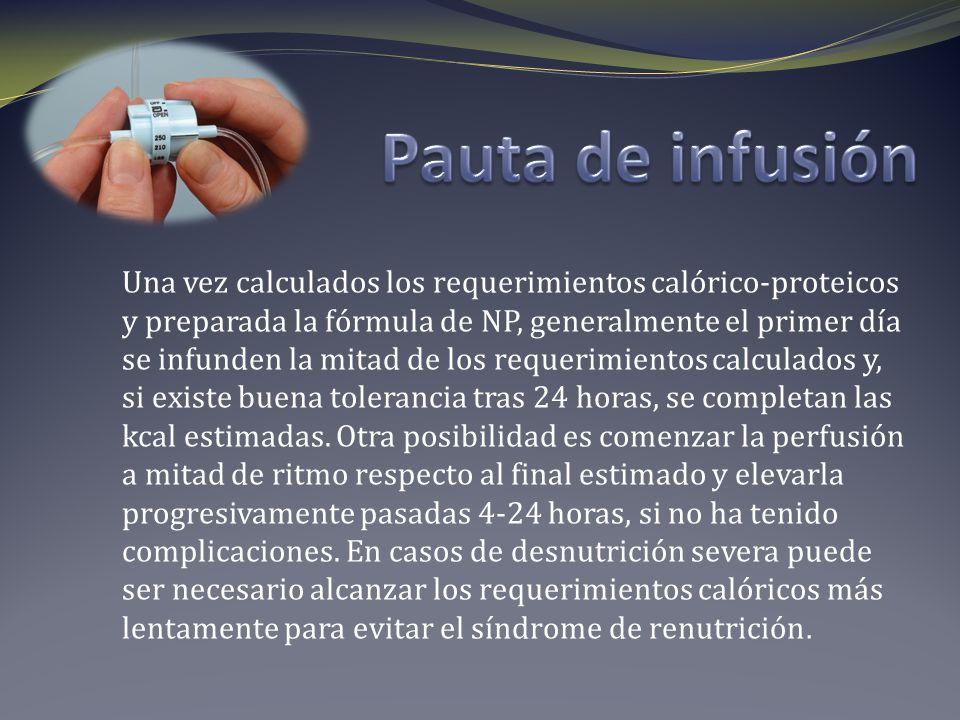 Pauta de infusión