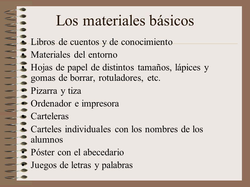 Los materiales básicos