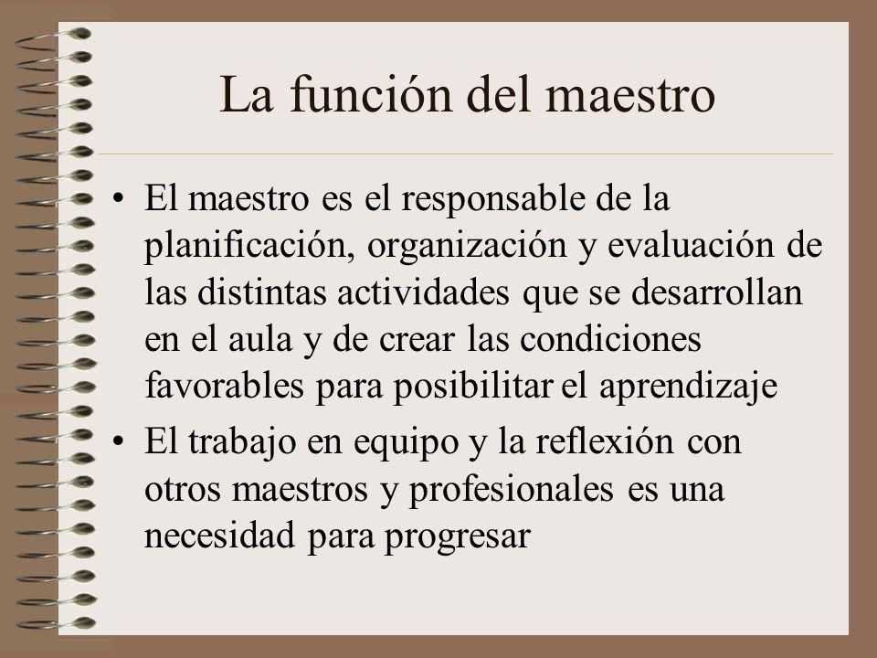 La función del maestro