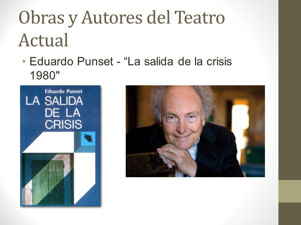 Obras y Autores del Teatro Actual