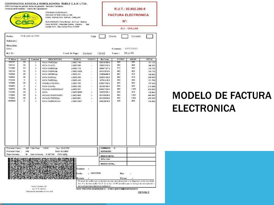 modelo de facturas