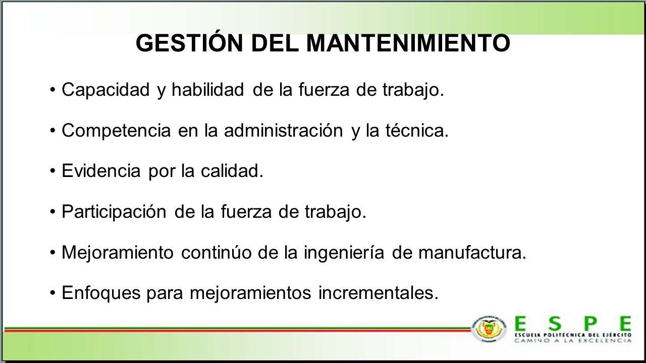 GESTIÓN DEL MANTENIMIENTO