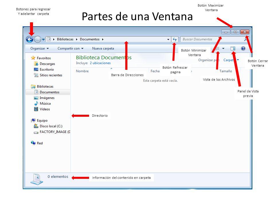 Escritorio de windows escritorio de windows iconos y for Partes de una biblioteca