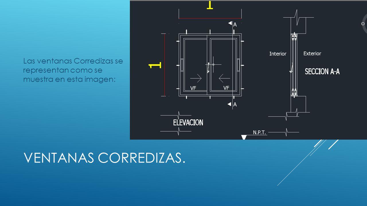 Identificaci n de la simbolog a y dibujo de ventanas en for Clasificacion de los planos arquitectonicos