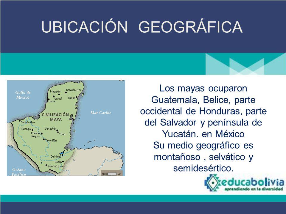La cultura maya 4 secundaria culturas americanas historia for Cultura maya ubicacion