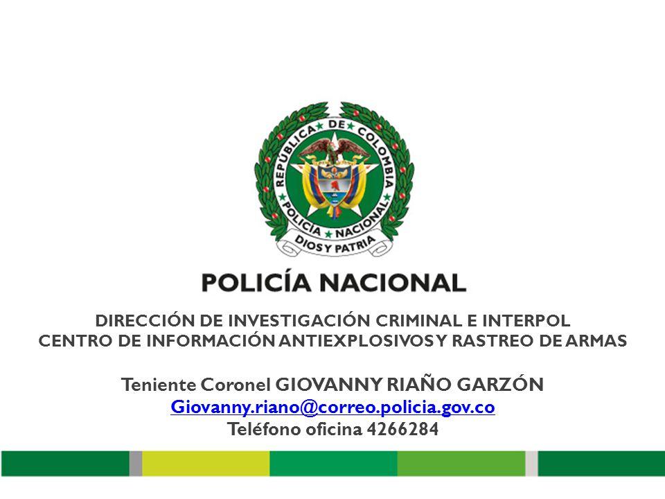 CENTRO DE INFORMACIÓN ANTIEXPLOSIVOS, NRBQ Y RASTREO DE ARMAS ...
