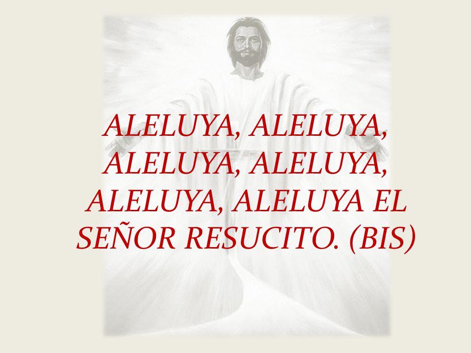 ALELUYA, ALELUYA, ALELUYA, ALELUYA, ALELUYA, ALELUYA EL SEÑOR RESUCITO