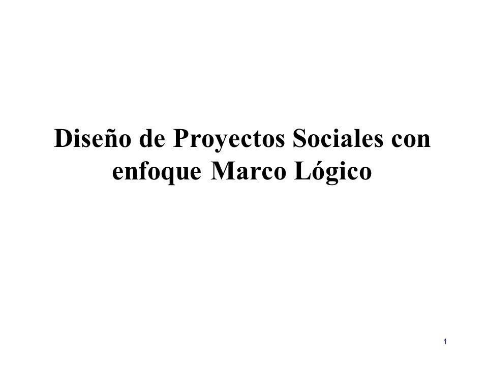 Diseño de Proyectos Sociales con enfoque Marco Lógico