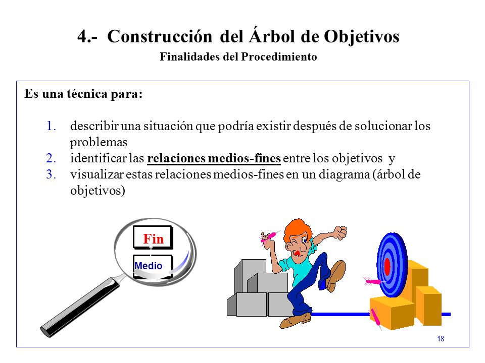 4.- Construcción del Árbol de Objetivos Finalidades del Procedimiento