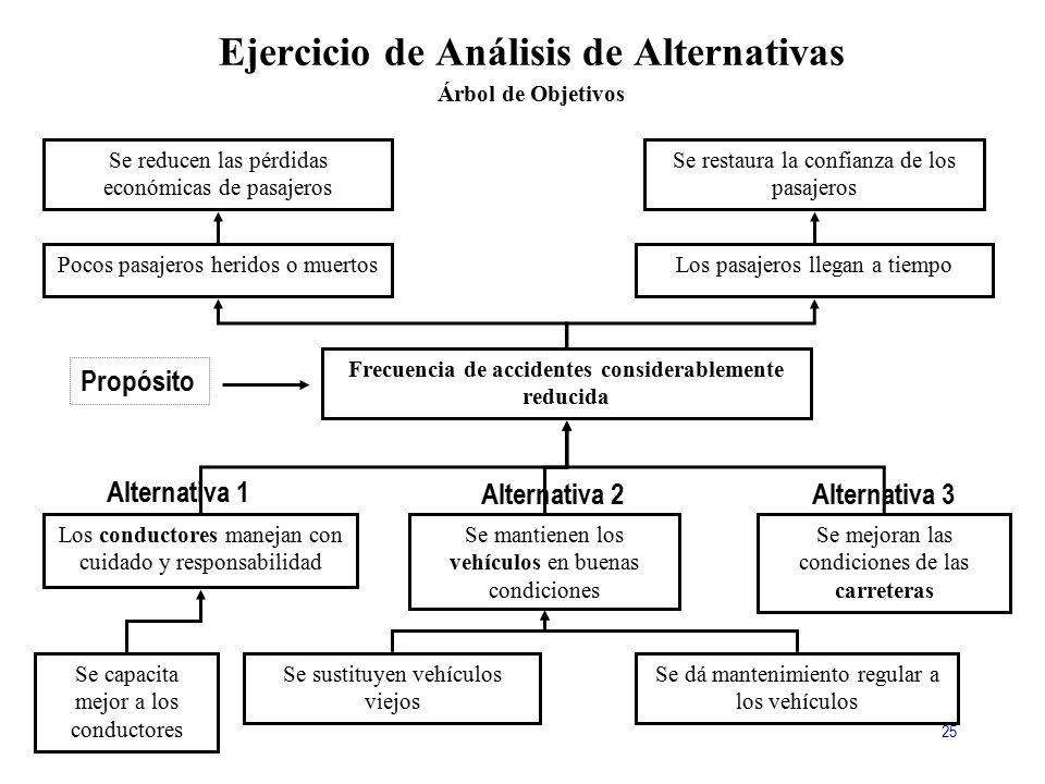 Ejercicio de Análisis de Alternativas Árbol de Objetivos