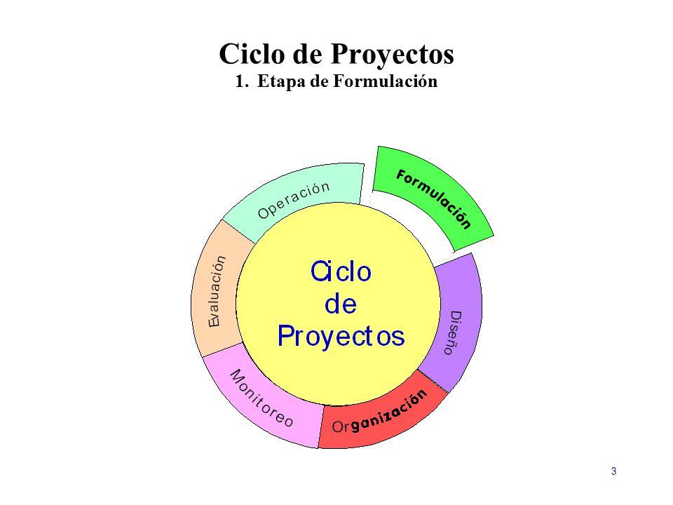 Ciclo de Proyectos 1. Etapa de Formulación