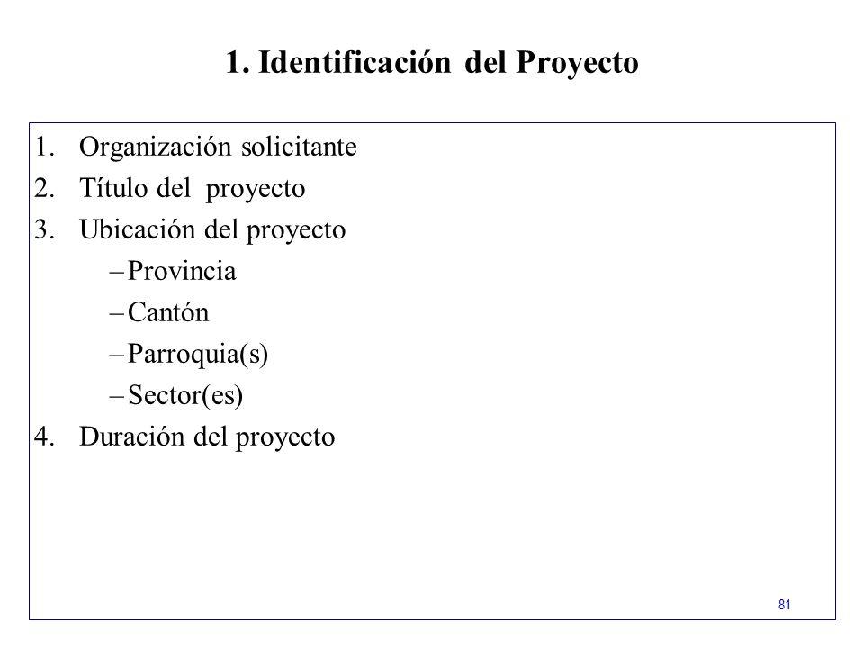 1. Identificación del Proyecto