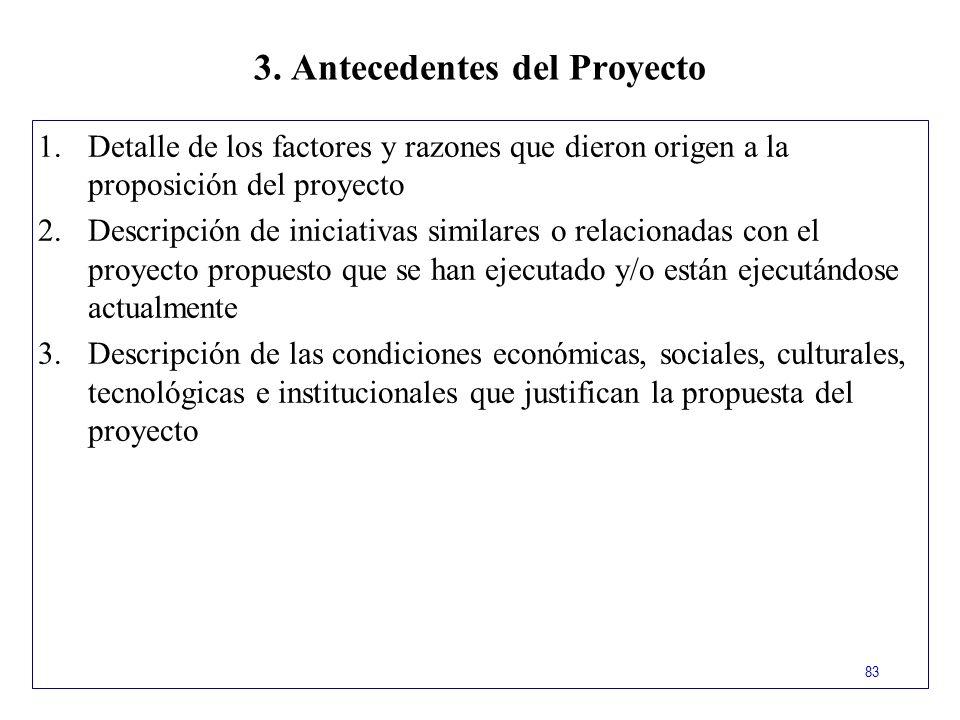 3. Antecedentes del Proyecto