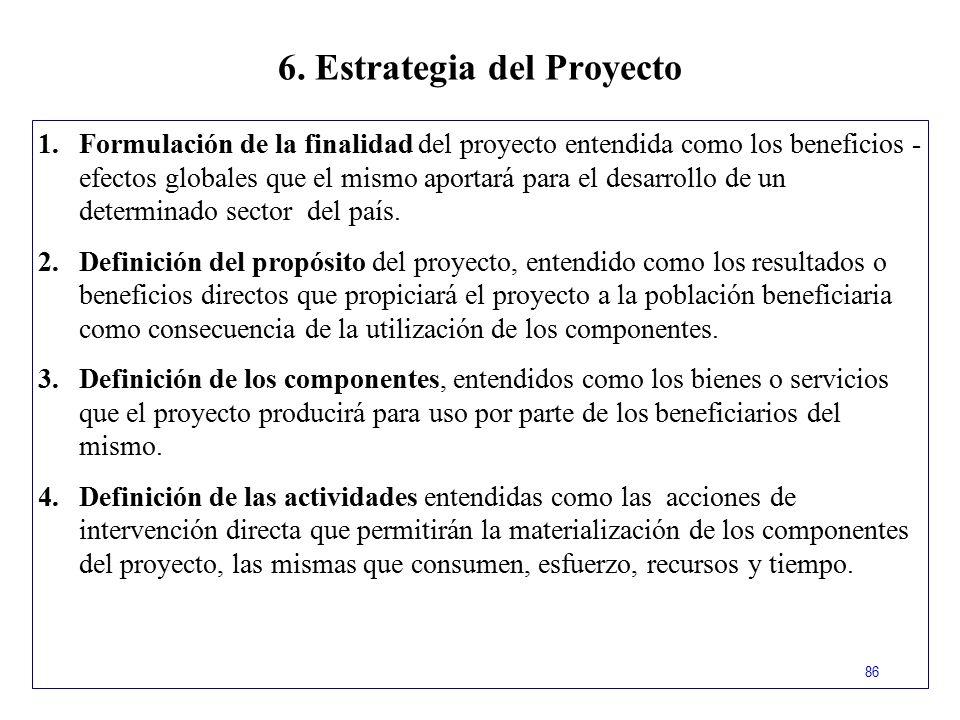 6. Estrategia del Proyecto