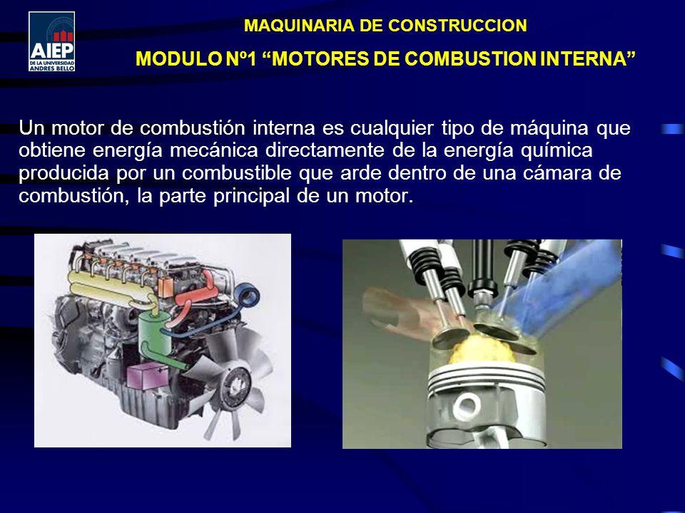 MAQUINARIA DE CONSTRUCCION MODULO Nº1 MOTORES DE COMBUSTION INTERNA