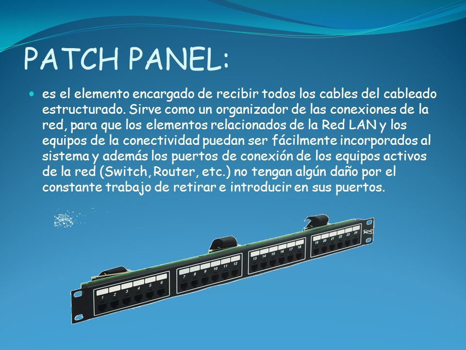 PATCH PANEL: