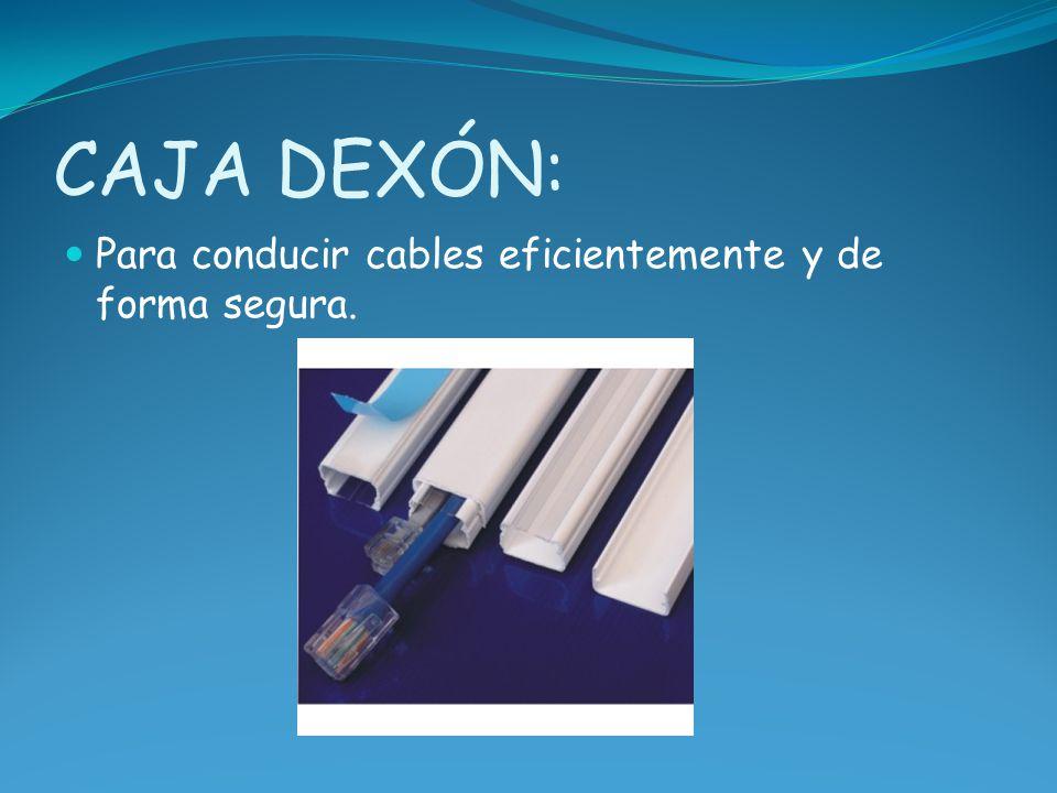 CAJA DEXÓN: Para conducir cables eficientemente y de forma segura.