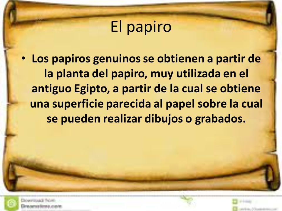 El papiro
