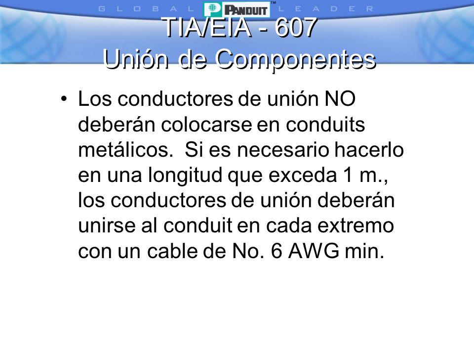 TIA/EIA - 607 Unión de Componentes