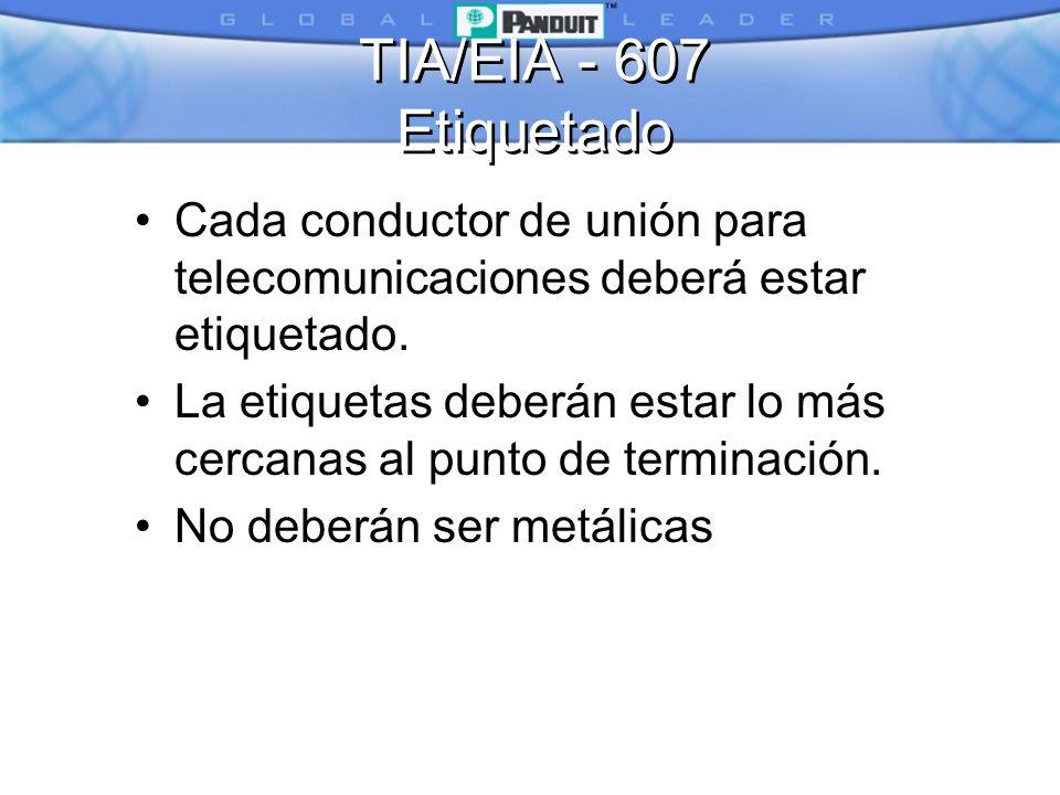 TIA/EIA - 607 Etiquetado