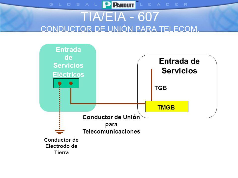 TIA/EIA - 607 CONDUCTOR DE UNIÓN PARA TELECOM.