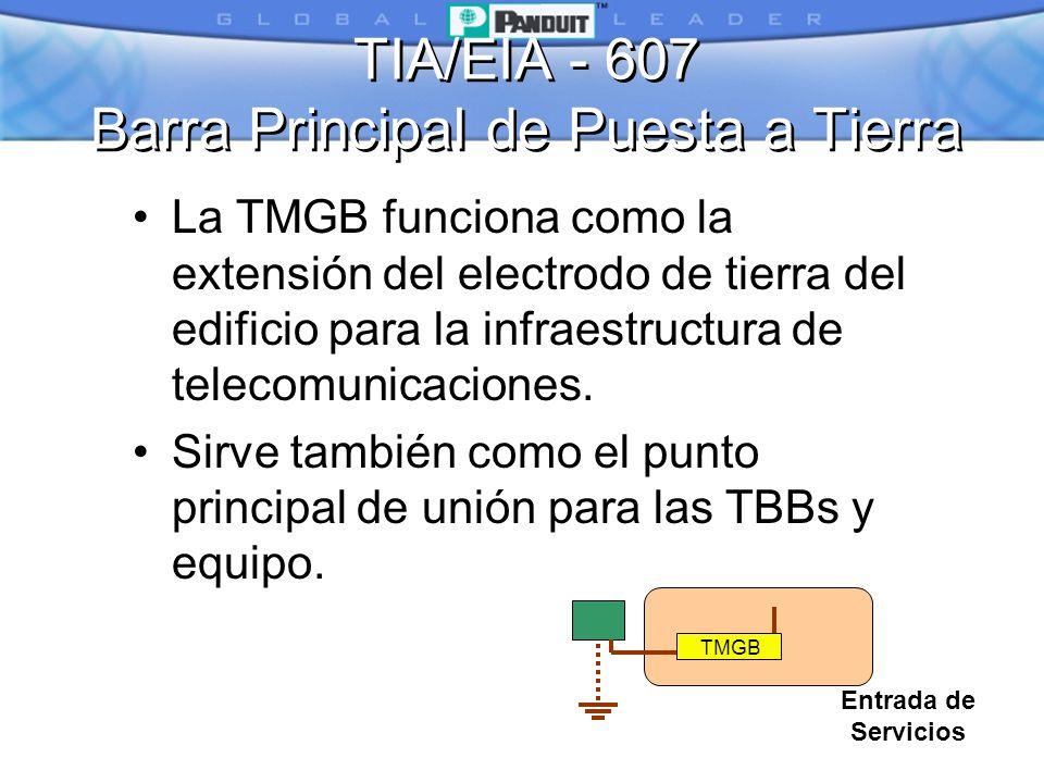 TIA/EIA - 607 Barra Principal de Puesta a Tierra