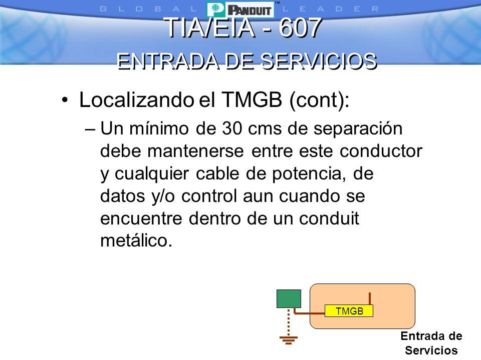 TIA/EIA - 607 ENTRADA DE SERVICIOS