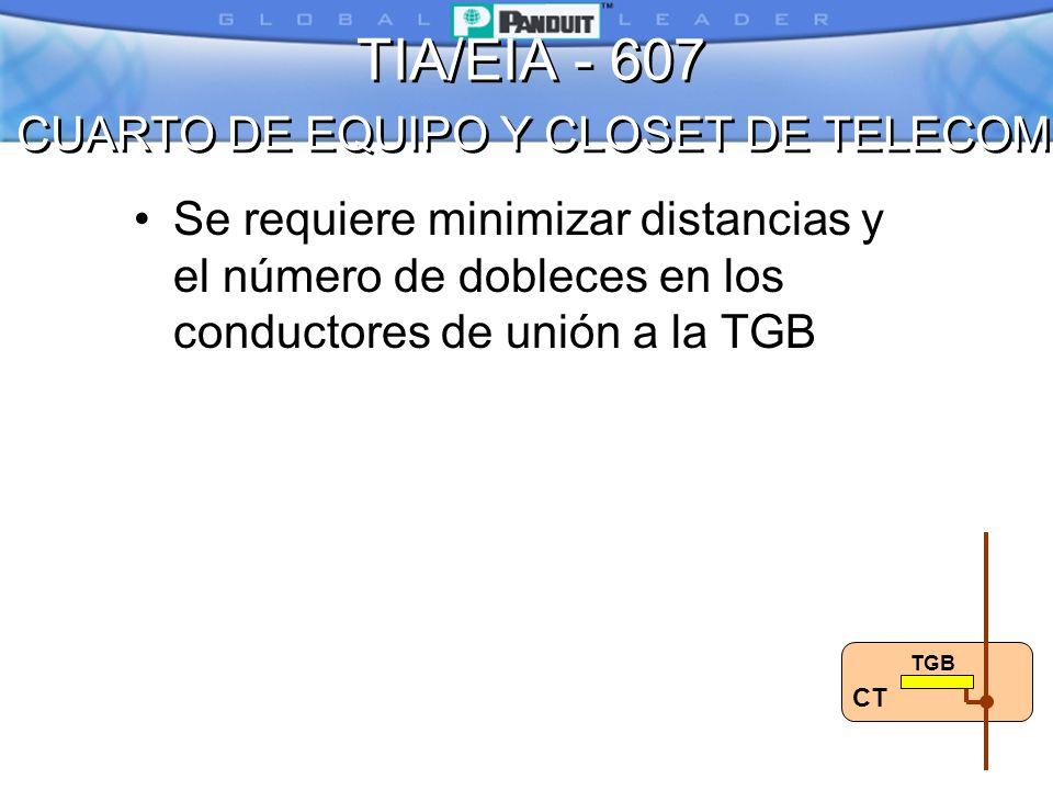 TIA/EIA - 607 CUARTO DE EQUIPO Y CLOSET DE TELECOM.