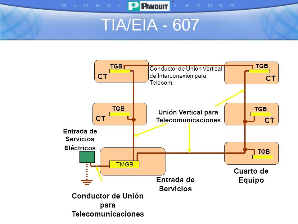 TIA/EIA - 607 CT Cuarto de Equipo Entrada de Servicios