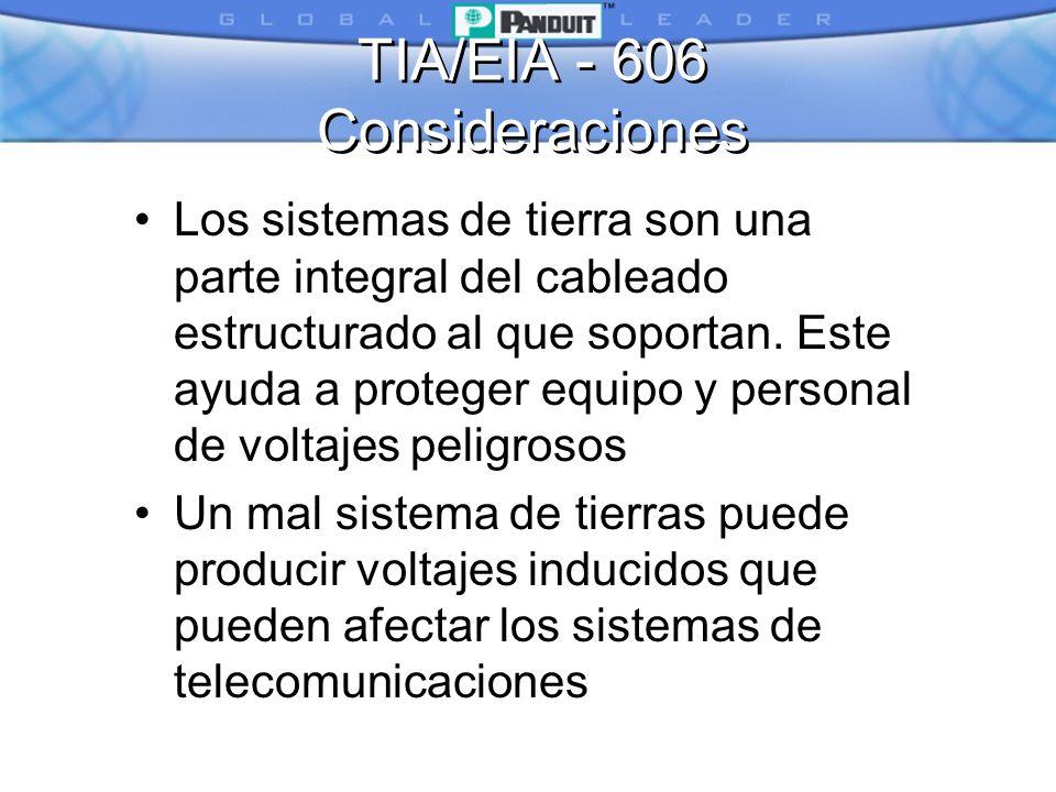 TIA/EIA - 606 Consideraciones