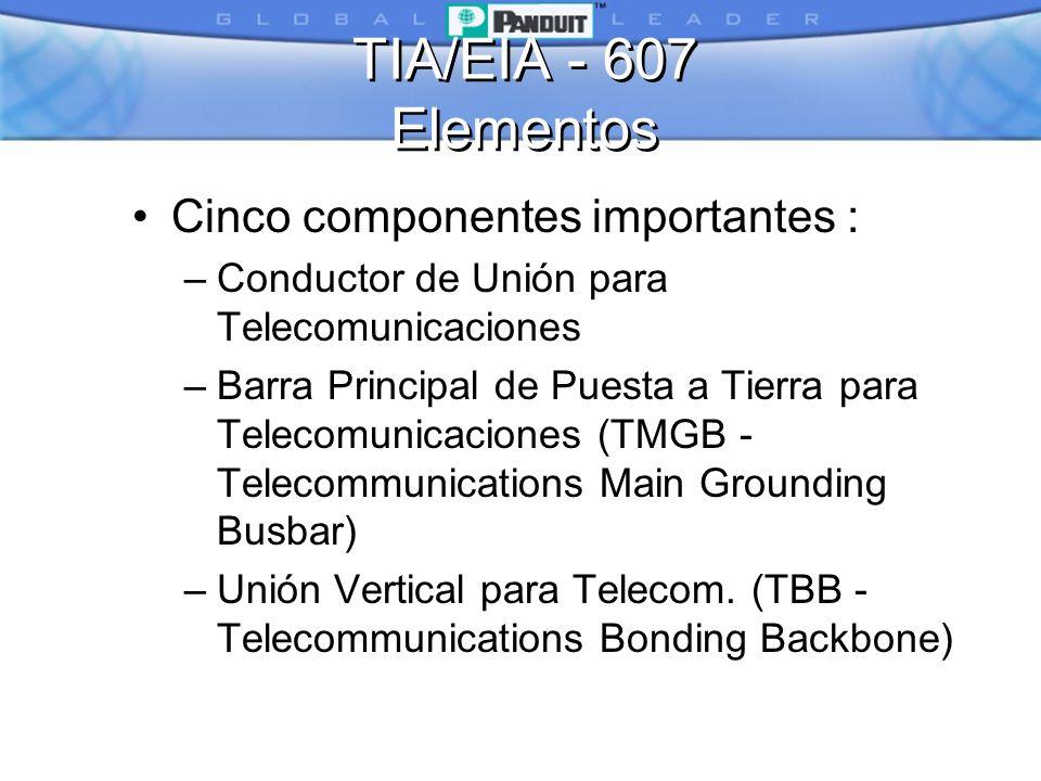 TIA/EIA - 607 Elementos Cinco componentes importantes :