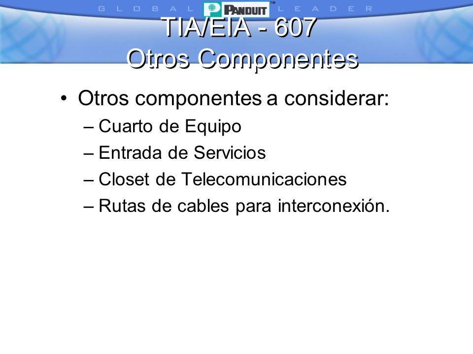 TIA/EIA - 607 Otros Componentes