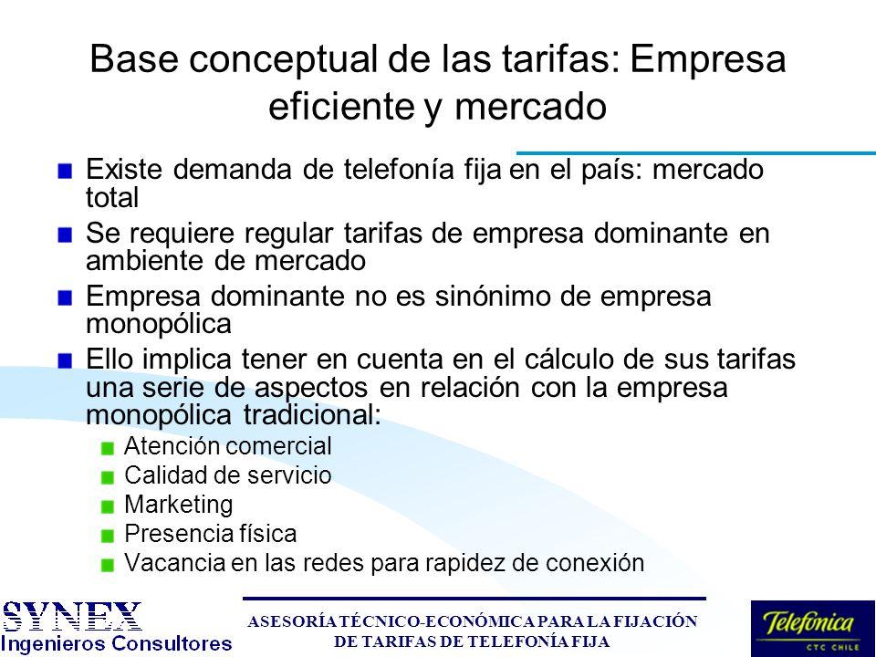 modelo tarifario autocontenido aspectos conceptuales y